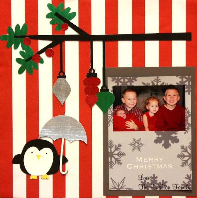 Christmas-Card-Scrapbook-Page-Idea