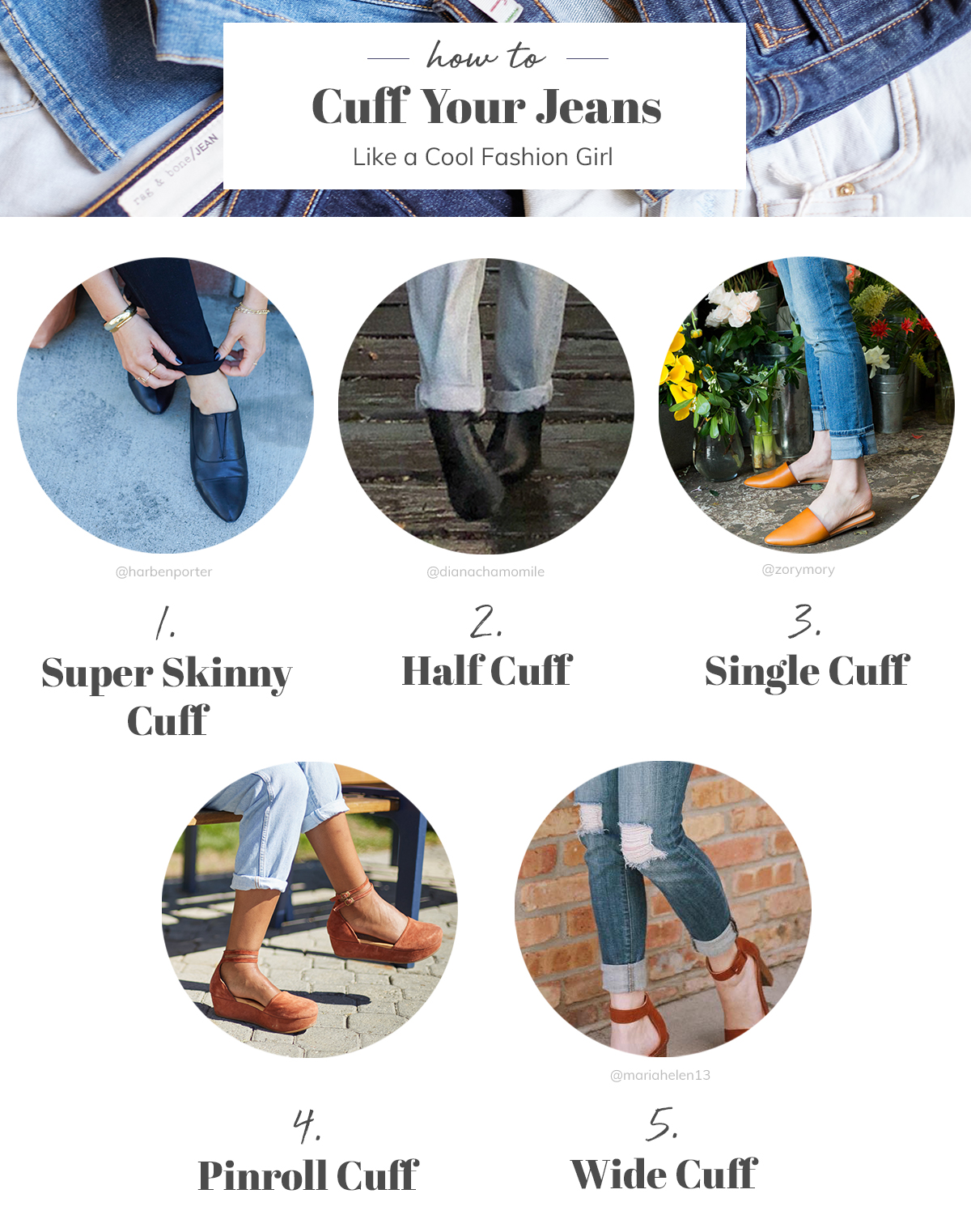 58d46e0e5 5 Ways to Cuff Your Jeans Like a Cool Fashion Girl